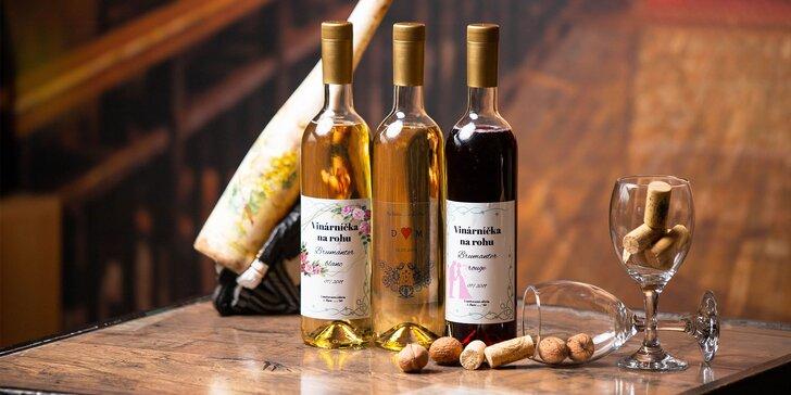Originálne vína s vlastnou etiketou na svadbu či inú významnú udalosť