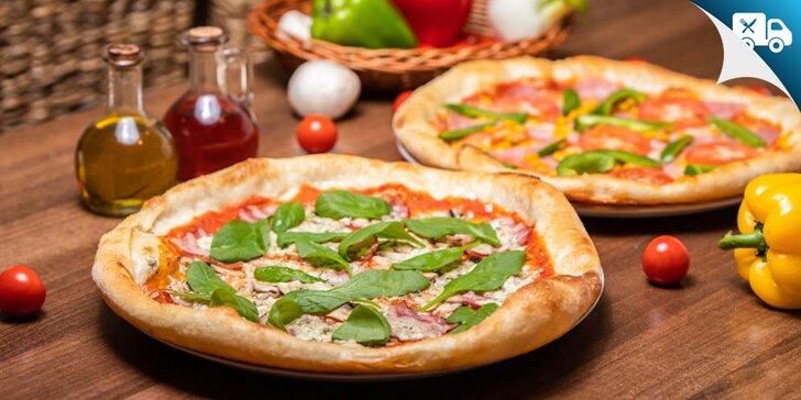 Pizza podľa vlastného výberu s nápojom - aj rozvoz!