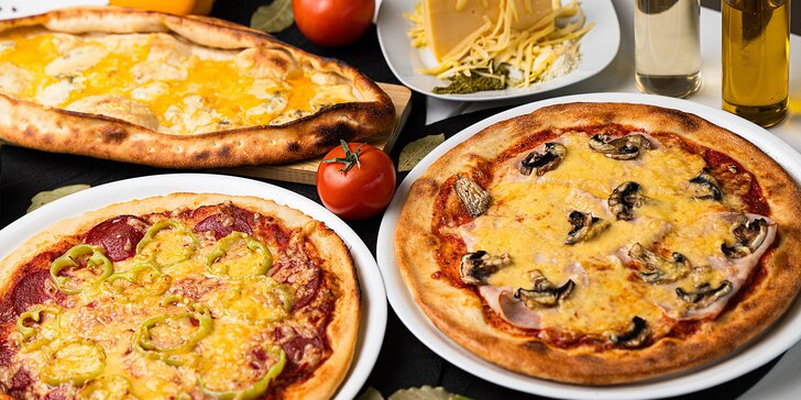 Veľká alebo malá pizza podľa vlastného výberu v reštaurácii Palmi