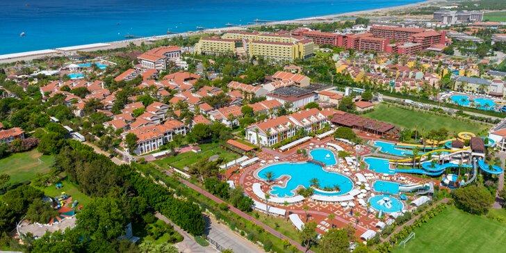 5* hotel Club Turan Prince prispôsobený deťom: all inclusive, aquapark, lunapark aj zoo