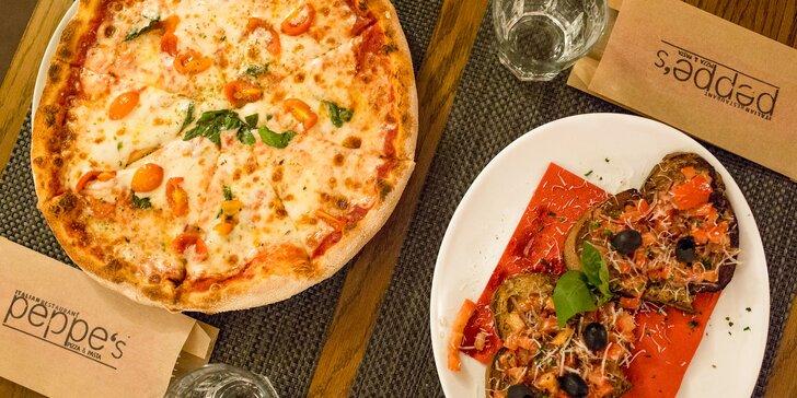 Pravá talianska pizza aj s chrumkavou bruschettou v Peppe's!