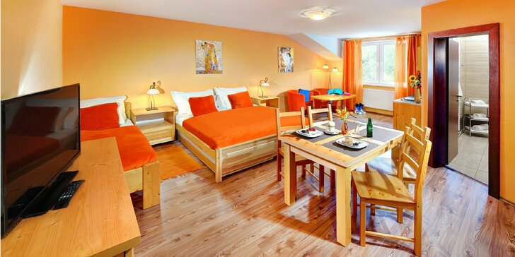 Priestranné apartmány a rodinné štúdiá v srdci krásnej Tatranskej Lomnice