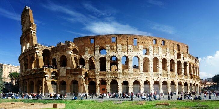 Pompézny Rím a slávny Vatikán: 5-dňový poznávací zájazd, doprava a ubytovanie v cene