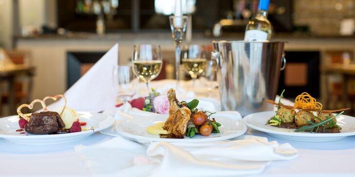 Romantické 3-chodové menu pre 2 osoby v hoteli Košice