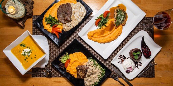 Exkluzívne 3-chodové menu v reštaurácii Bella Viktoria