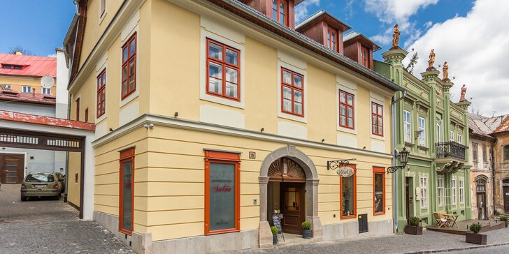 Jedinečný pobyt v obľúbenom dome BERG v romantickej Banskej Štiavnici