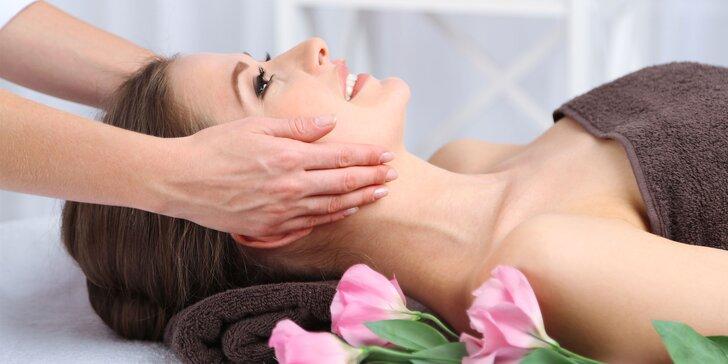 Jarné pleťové ošetrenia a relaxačné masáže tváre, hlavy a dekoltu