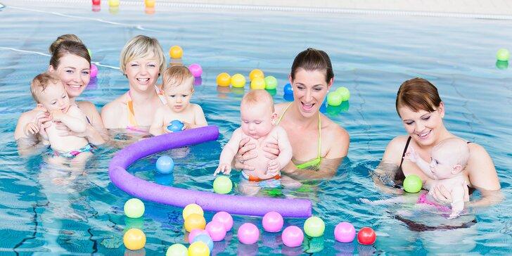 Plávanie a hry vo vode pre bábätká a deti do 3,5 roka