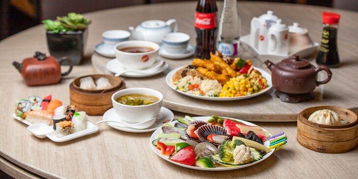 All you can eat aj s nápojom v Asian Restaurant v Auparku