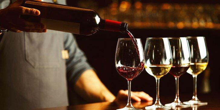 Degustácia lahodných slovenských vín aj s pochúťkovým tanierom