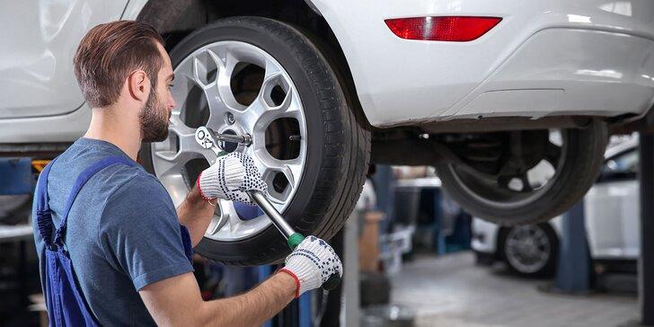 Výmena zimných pneumatík za letné + vyváženie kolies
