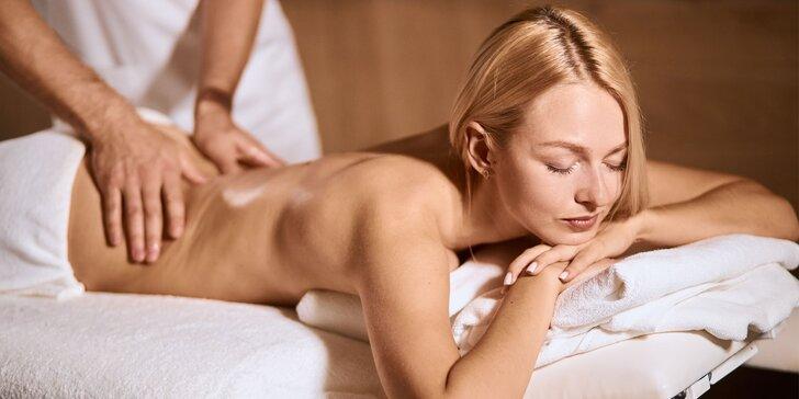 Masáž chrbta a šije, relaxačná či regeneračná detoxikačná masáž
