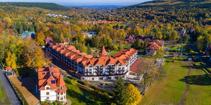 Pobyt v poľských Jizerkách pre páry a rodiny: wellness pobyt v rozprávkovom hoteli