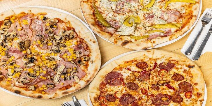 Chrumkavá pizza - na výber až 10 druhov!