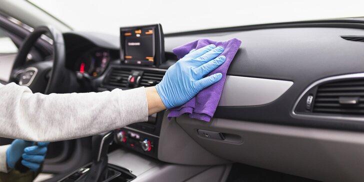 Jarná údržba interiéru i exteriéru vozidla parou a ozónom