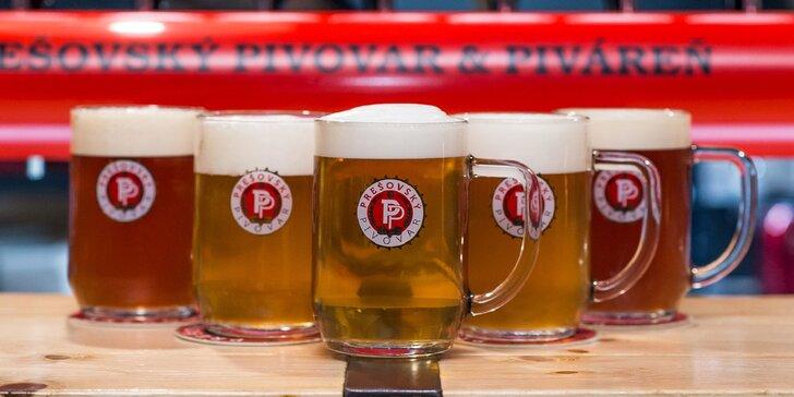 Vychutnajte si doma jedinečnú chuť čapovaného piva z Prešovskej pivárne vďaka donáške!