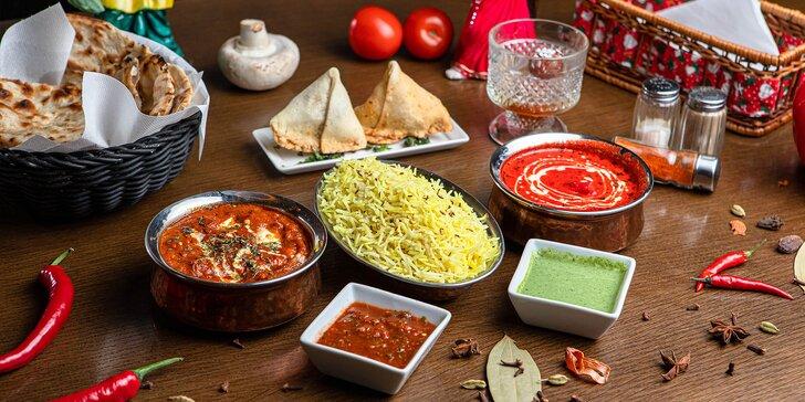 Indické 3-chodové menu na osobný odber v Punjabi Dhaba Hlboká