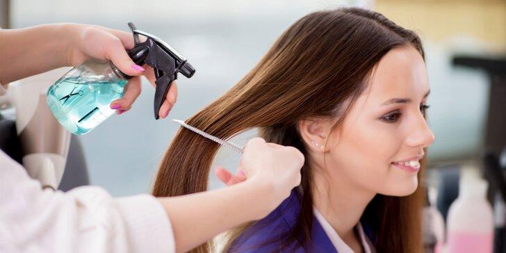 Moderný strih, masáž hlavy, regenerácia vlasov či spoločenský účes