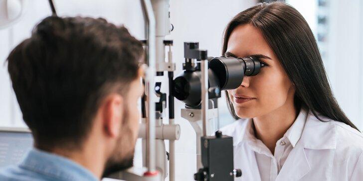 Odborné vyšetrenie zraku očnou lekárkou bez čakania + 20% zľava na rámy