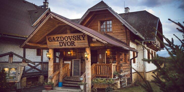 Pobyt v obľúbenom vidieckom sídle Gazdovský dvor v Bešeňovej