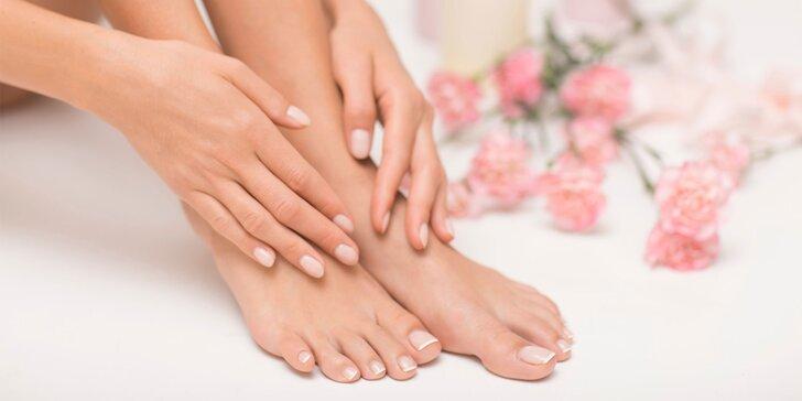 Klasická manikúra či mokrá pedikúra aj s gél lakom alebo masážou nôh