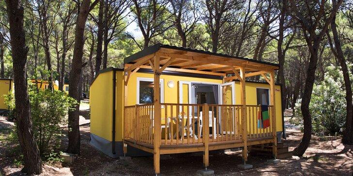 Chorvátské Baško Polje: klimatizovaný mobilný dom v kempe až pre 6 osôb
