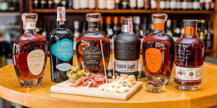 Degustácia rumov s profesionálnym someliérom