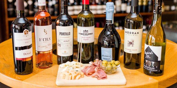 Degustácia 7 druhov vín so someliérom WINE EXPERT + občerstvenie