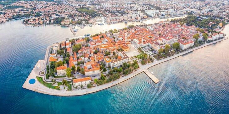 Krásne apartmány pri Zadare s bazénom a výhľadom na more, iba 100 m od pláže