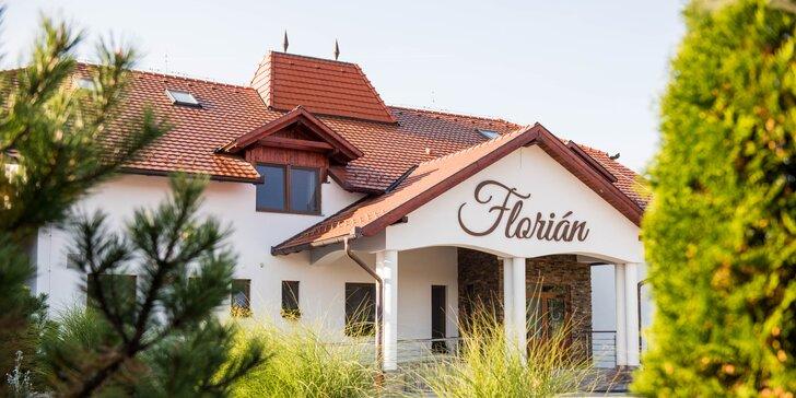 Rodinný pobyt v krásnom penzióne Floriánov Dvor v blízkosti wellness Novolandia