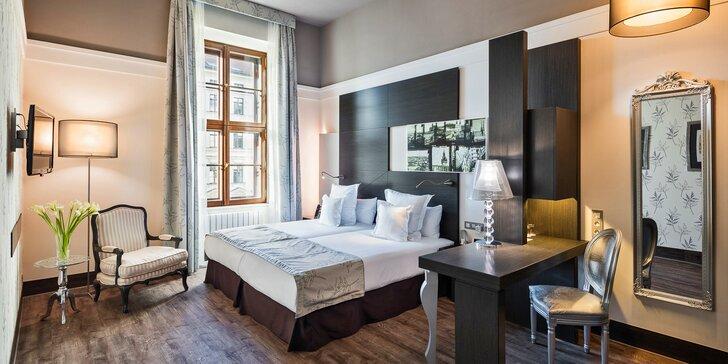 Pobyt v 5* hoteli v centre Brna: bohaté bufetové raňajky a vstup do sauny