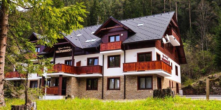 Pobyt v Jasnej: moderné, kompletne zariadené apartmány Tri Studničky pohodlné pre páry aj veľké rodiny