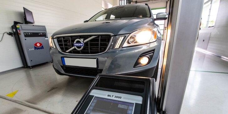 Profesionálna technická a emisná kontrola osobného vozidla