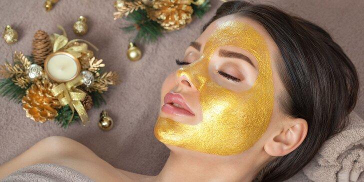 Luxusné ošetrenie pleti 24K zlatom alebo denné líčenie