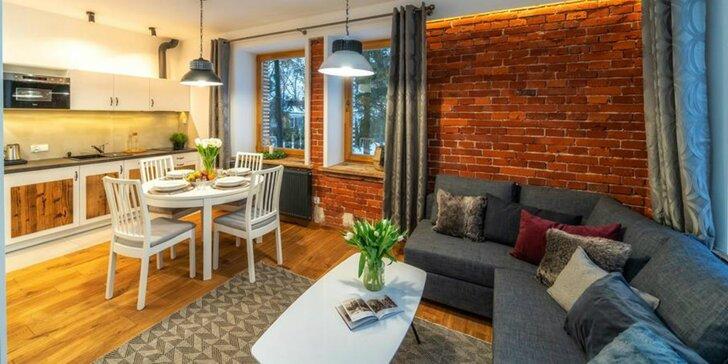 Pobyt v industriálnom apartmánovom hoteli s nádychom tradície priamo v centre mesta Zakopané