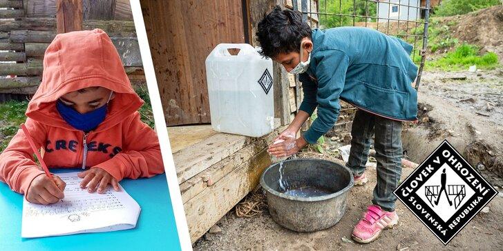 Pitná voda, vzdelávanie i práca: pomôžte obyvateľom z vylúčených komunít