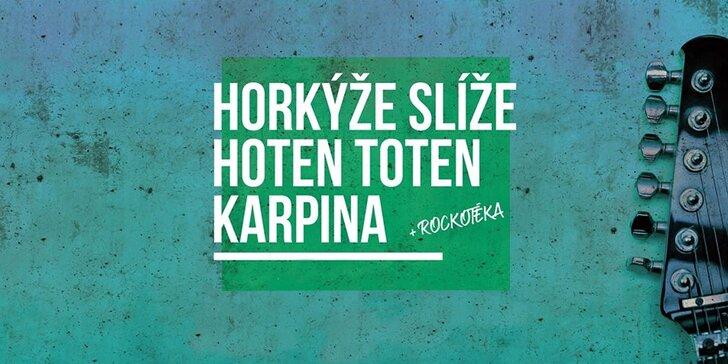 Privítajte leto na Šírave: koncert Horkýže Slíže, Karpina a Hoten Toten