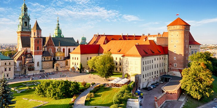 Moderné ubytovanie v centre Krakova s raňajkami či polpenziou a výhľadom na hrad Wawel