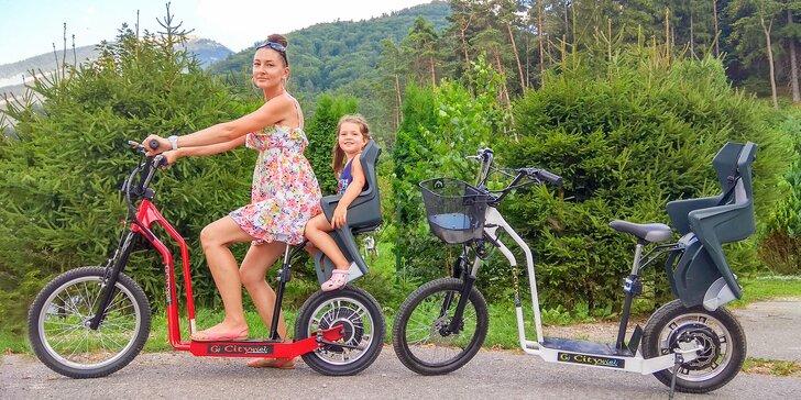 Gaderskou dolinou pohodlne na kolesách elektrokolobežky či elektromotocykla