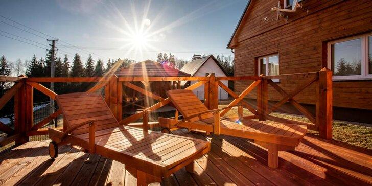 Luxusné ubytovanie až pre 9 osôb v horskej chate Wellness Chalet Harmonia