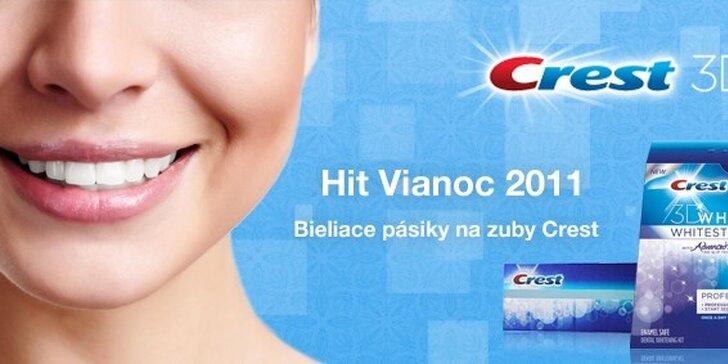 39,99 eur za bieliace pásiky Crest na zuby na domáce použitie! Viac ako 30 miliónov spokojných zákazníkov po celom svete! Očarte žiarivo bielym úsmevom so zľavou 51%!