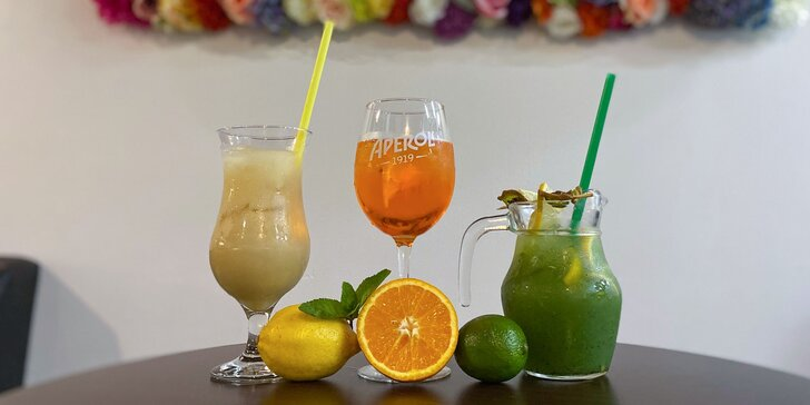 Fantastické miešané alko/nealko drinky, ovocné limonády či cider