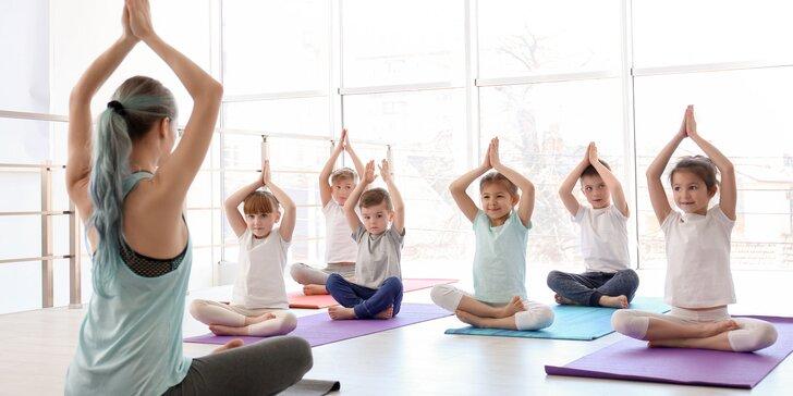 Letné kurzy či lekcie jogy formou hry pre deti od 8 do 14 rokov