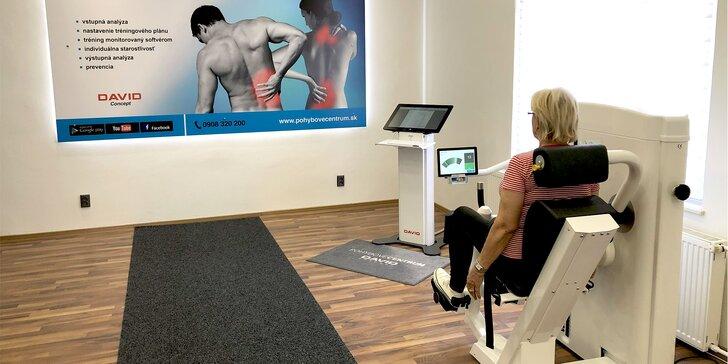 Vstupná analýza chrbtice, tréningový plán na mieru a cvičenie s terapeutom