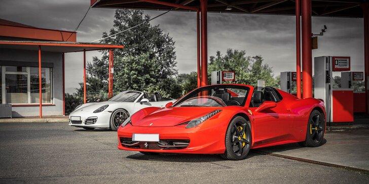 Vzrušujúca jazda na Ferrari, Lamborghini či Porsche. Palivo v cene!