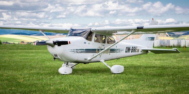 Vyhliadkové lety až pre 3 osoby v lietadle Cessna 172