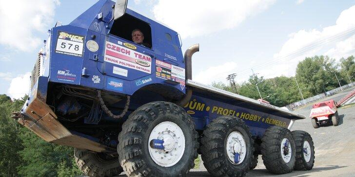 15-60 minút jazdy v kabíne gigantu Tatra 813 8×8 Truck Trial