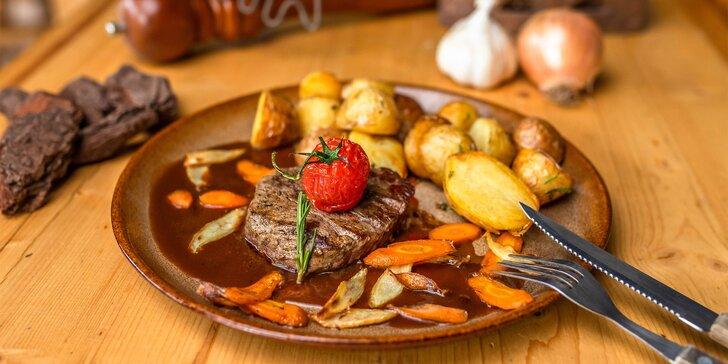Fenomenálny steak filet mignon z pravej argentínskej sviečkovej