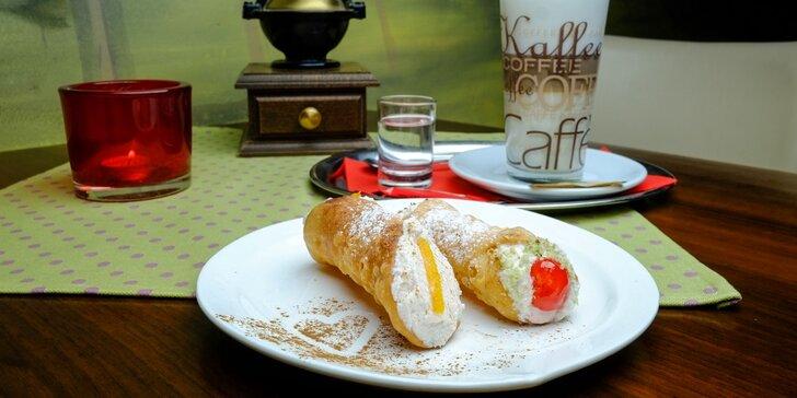 Ochutnajte originálne talianske cannoli, brioche con gelato a lahodnú kávu!