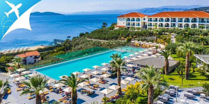 Ubytovanie ALL INCLISIVE v hoteli Akrathos**** v tesnej blízkosti pláže s odletom z Bratislavy